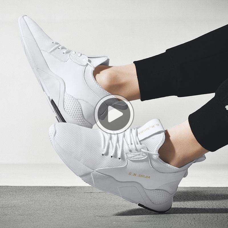 Con la caja G.N.SHIJIA Newtop Calidad Flying Weaving suela de goma Negro Blanco 64 mujeres de los hombres zapatos de diseño zapatos corrientes de la zapatilla de deporte Deportes HTDG