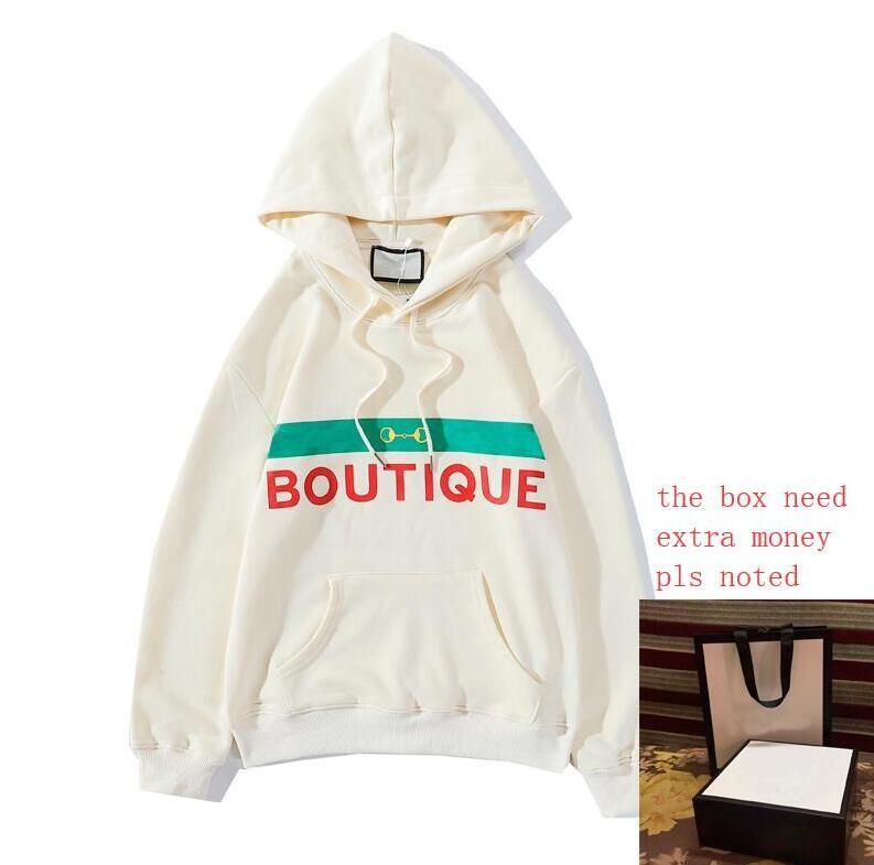20FW Горячая продажа Письма Печатные Hoodie Мужские кофты для женщин свитер весна Пуловеры Streetwear капюшоном Homme одежда M-2XL 4 Styles