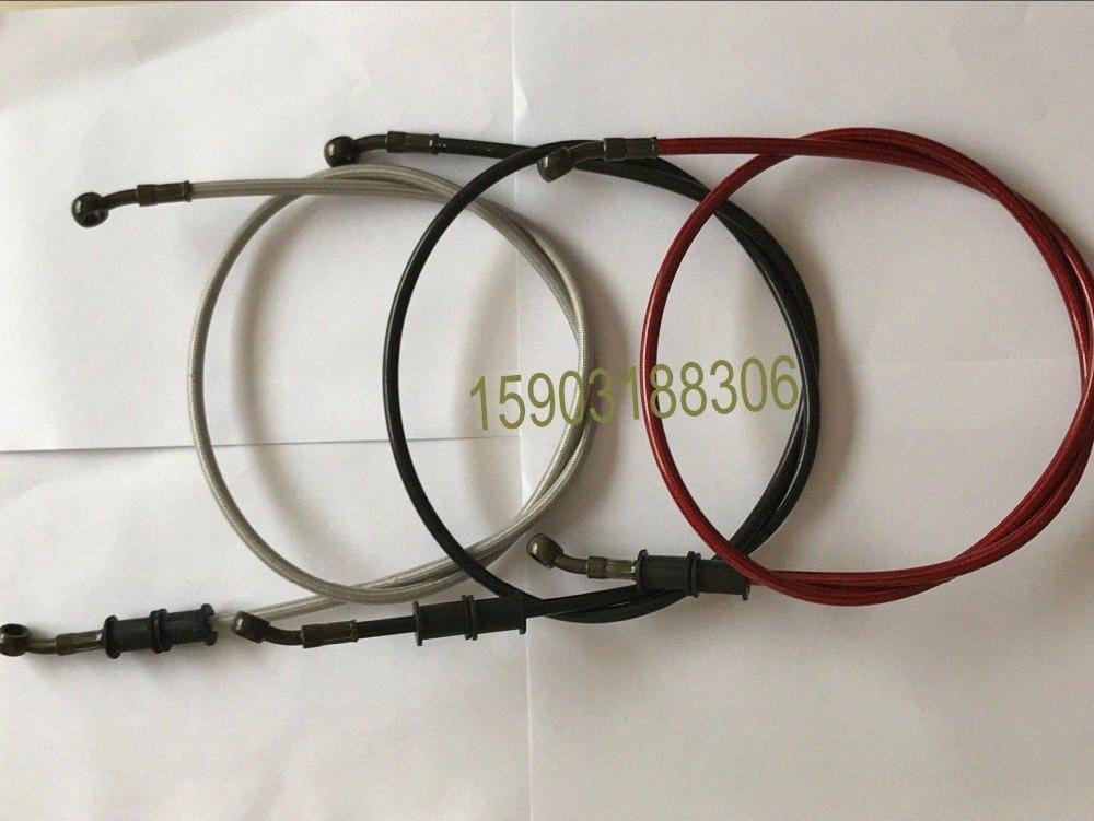 120cm Colorful Motorcycle Motorbike Braided Stainless Steel PVC Coverred Brake Clutch Oil Hose Line Pipe 132U#