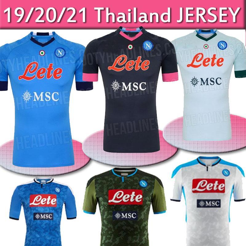 20 21 Napoli jersey coccer 2020 2021 Naples KOULIBALY camiseta de Fútbol INSIGNE MILIK H.LOZANO MERTENS troisième maillot de football noir thaïlande