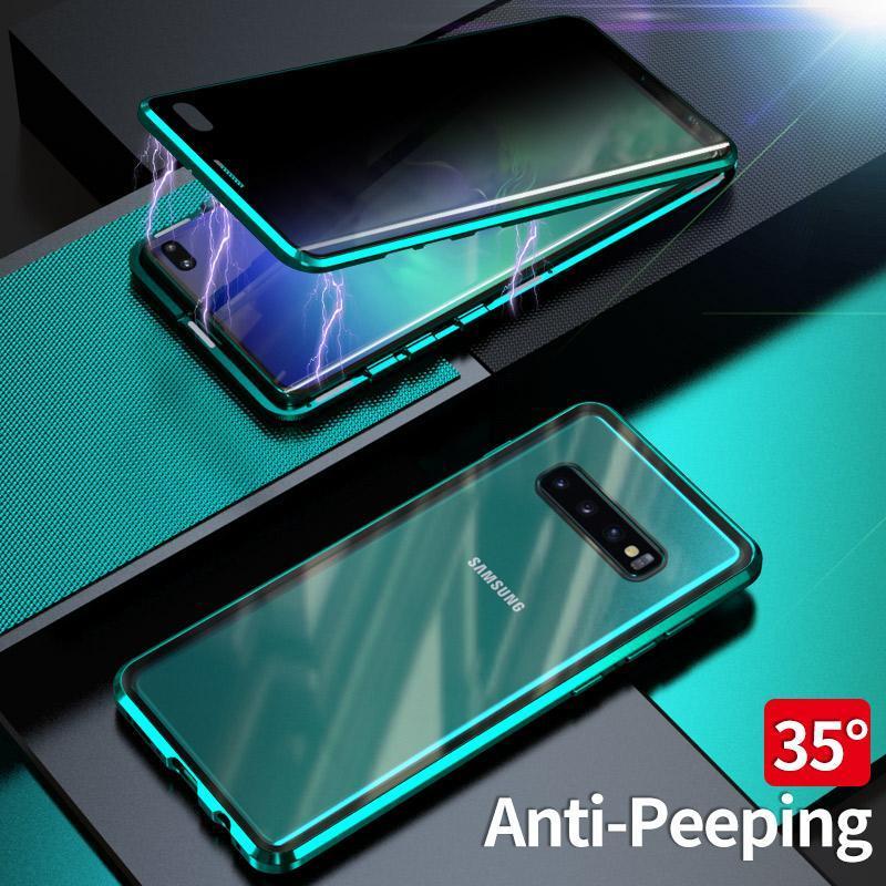 Protectora S8 Teléfono Plus Plus templado Galaxy Samsung S10 S9 Privacidad imán de metal cubierta magnética S10 Para Samsung Caso de cristal HIRoj