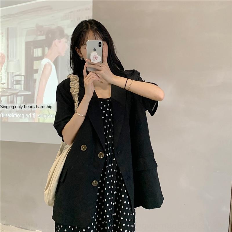 Koreanischen Stil elegant Revers lose beiläufige Allgleiches Klage für Frauen koreanische Art elegante Revers Mantel lose beiläufige Allgleiches Jackett für Frauen