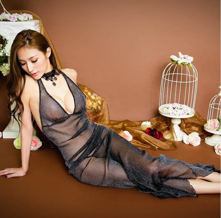 jQJ33 Grande perspectiva malhagem roupa interior das mulheres saia longa pijama saia set sexy lingerie pijama longo sensuais
