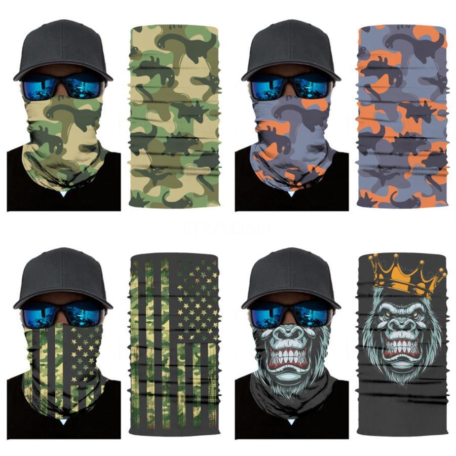 US STOCK, Radfahren Unisex Magie-Kopf-Gesichts-Schutzmaske-Ansatz Gamasche Biker Schlauch Bandana Schädel-Schal-Armband Beanie Cap Außen S # 103