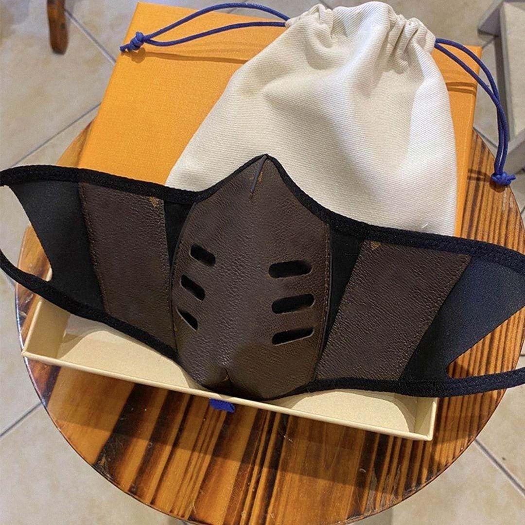 Máscaras Designer Fashion Party Lux manta de couro Anti Poeira pano de algodão Halloween Máscara lavável reutilizáveis Rosto Tampa HVXu #