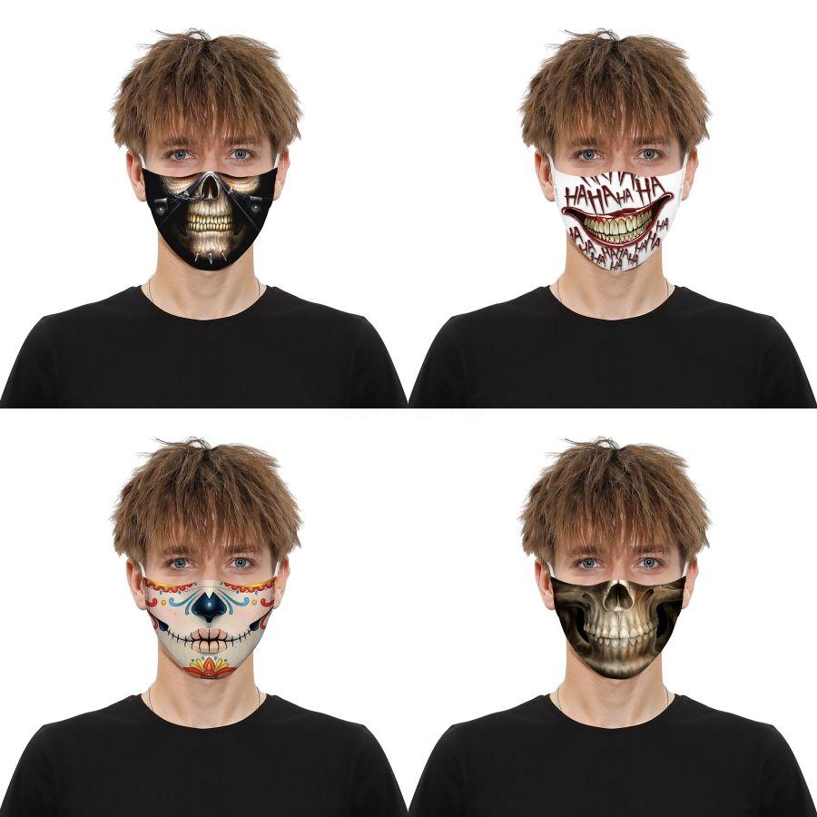 Máscaras elástica lavable camuflaje boca Dener Earloop la mascarilla del polvo Filtrition la impresión de Camo para el adulto # 275