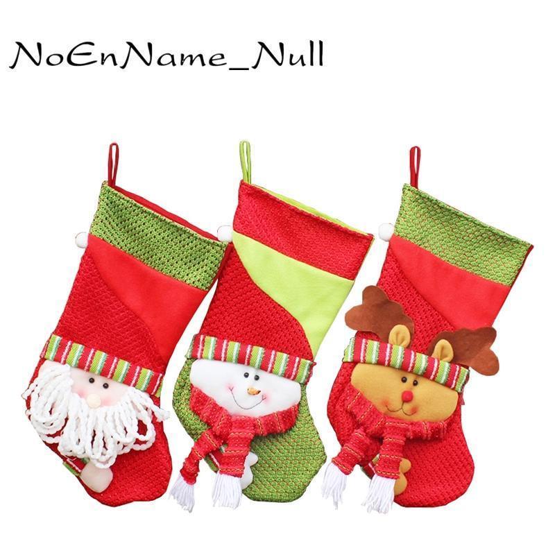 Les porteurs cadeau enfeite New Stocking Home Décor de Noël Noël Année Natal Ornements d'arbre de Noël cadeau pour les décorations Bas De BJzfa