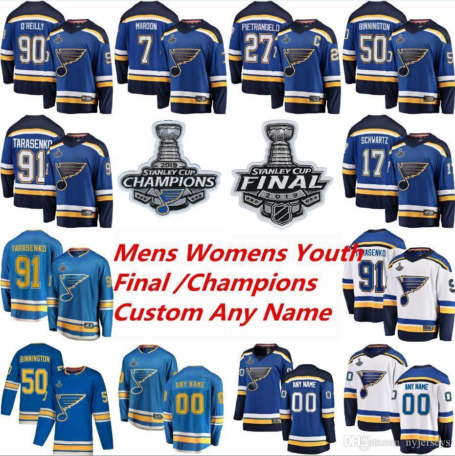 2019 stanley cup Finale St. Louis Blues Hockey Jerseys Vladimir Tarasenko Jersey Alex Pietrangelo Jake Allen Colton Parayko Binnington Custom