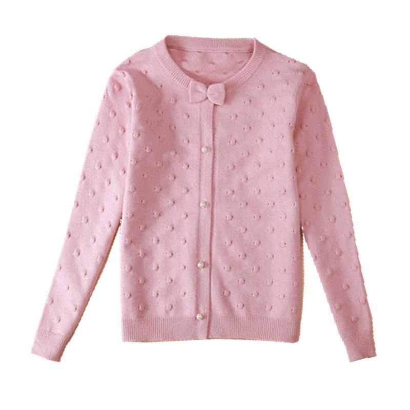 2020 ropa de los niños del resorte niñas suéteres muchacha ocasional sólido de la manga larga del bebé de punto suéteres para niñas niños grandes