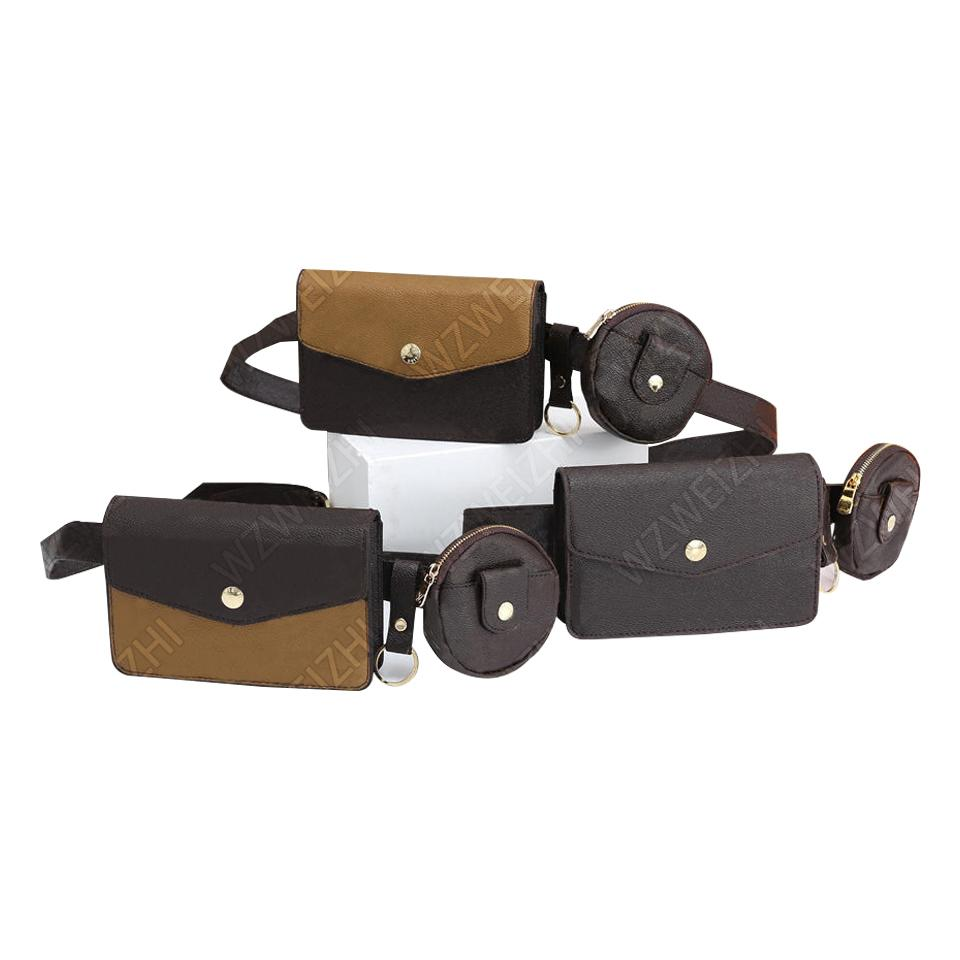 Yeni Stil Kadın Moda Bel Çanta Kahverengi Çiçek Cüzdan Sikke Çantalar Debriyaj Çanta Messenger Çanta 12 cm Welpacks Crossbody Çanta Göğüs Paketi