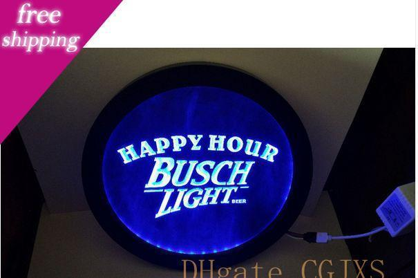 Busch Light Beer Happy Hour Rgb Led Multicolor The Wireless Control Beer Bar Pub Club Neon Light Sign