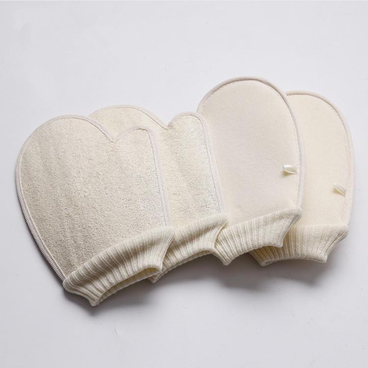 Loofah Schwamm Badhandschuhe Wäsche Peeling Handschuhe Hammam Peeling mitt Magie Peeling Handschuhe Peeling tan Entfernung mitt für SPA DHA50