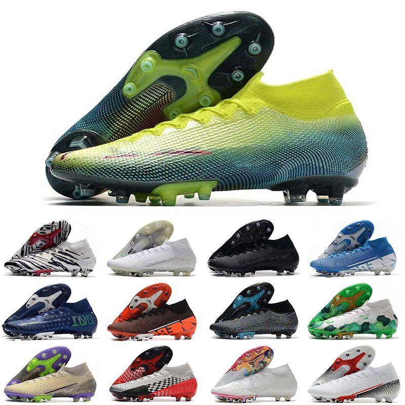 Mercurial Superfly VII Futbol Ayakkabıları 360 Elite AG 12 CR7 SE Ronaldo Neymar Erkek Superfly 7 Elite Se Futbol Çizmeler Ucuz Orijinal Cleats