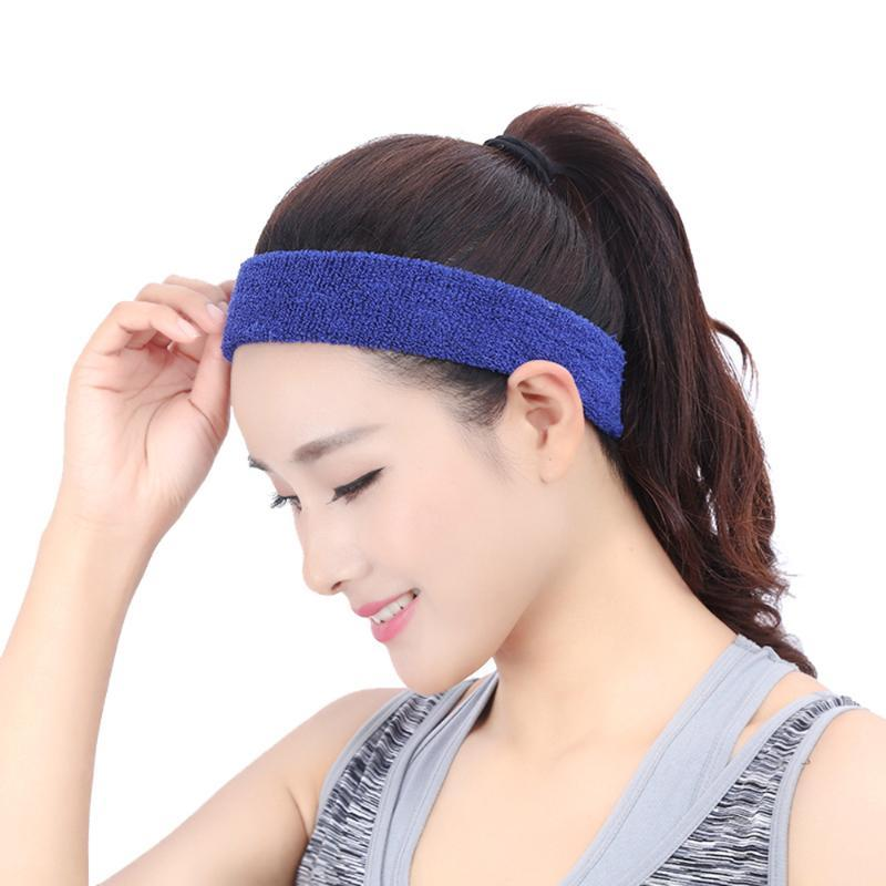 Sports Sweatband Men / Women Elastic Headband Anti-slip Fitness Hairband Athletic Cotton Terry Cloth for Running Gym Working Out