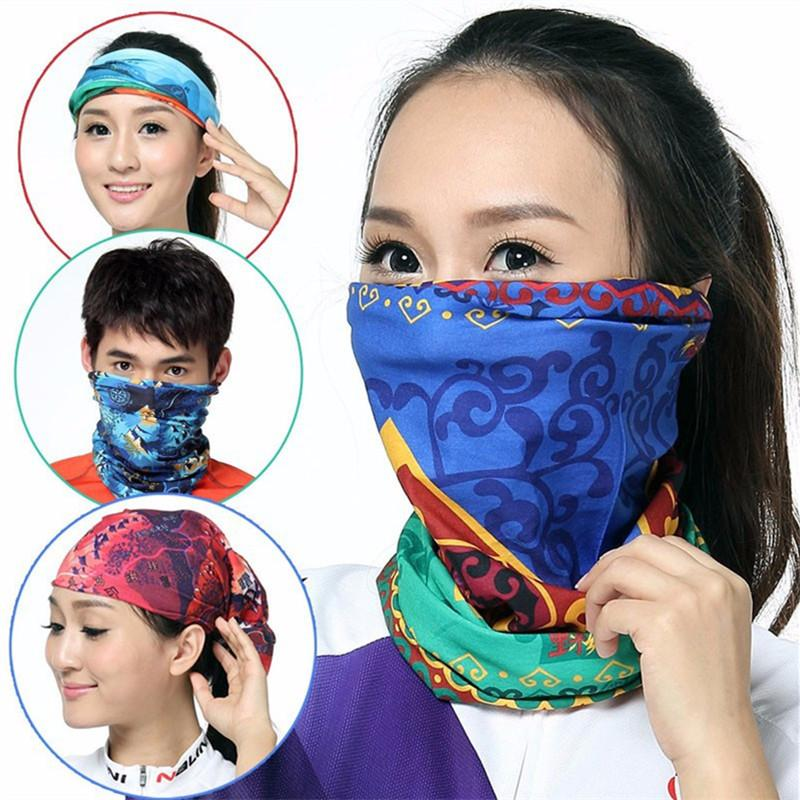 Unisex Magic Face Mask Cycling Scarf Neck Gaiter Biker's Tube Bandanas Solid Color Wristband Sports Scarves Outdoor Beanie Cap 11 Color