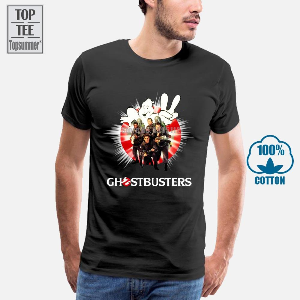 Siyah Top Beyaz Tişörtler Of Ghostbusters Film Erkekler'S Tee Gömlek Hip Hop Streetwear Tshirts Homme 2019 T Gömlek Siyah