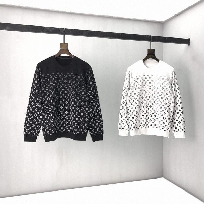 2020ss primavera e algodão novo alto grau de verão impressão de manga curta rodada painel pescoço t-shirt Tamanho: m-l-xl-XXL-XXXL Cor: preto branco A2fF #