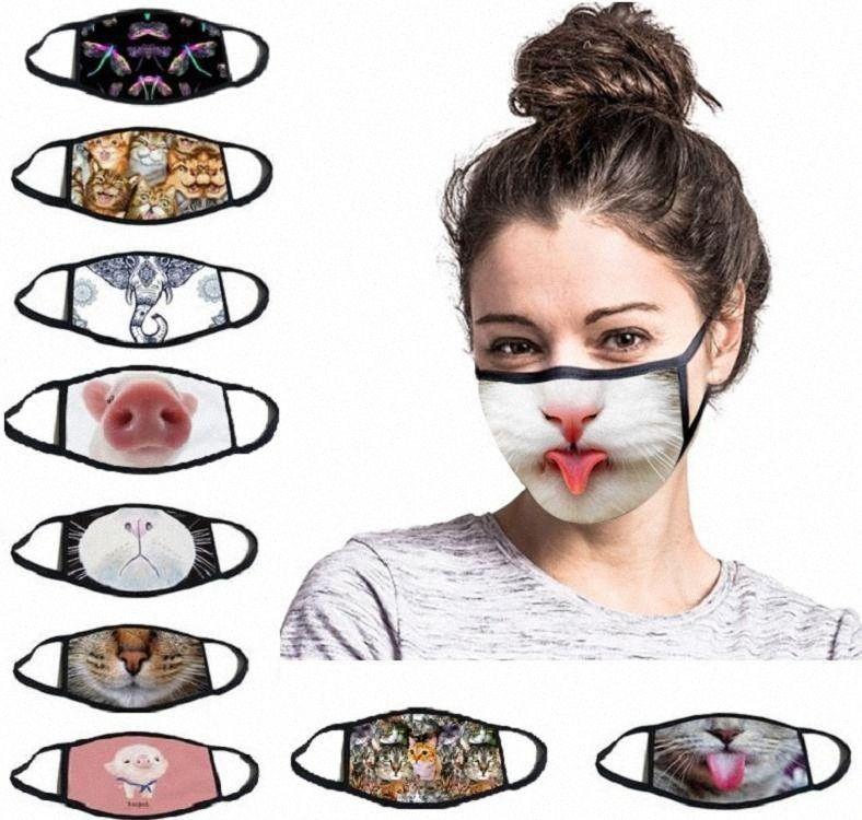 Funny Face Mask lavabili riutilizzabili antipolvere del fumetto Mask esterno funzionare bici di guida della protezione del lato Maschera DDA176 np8v #