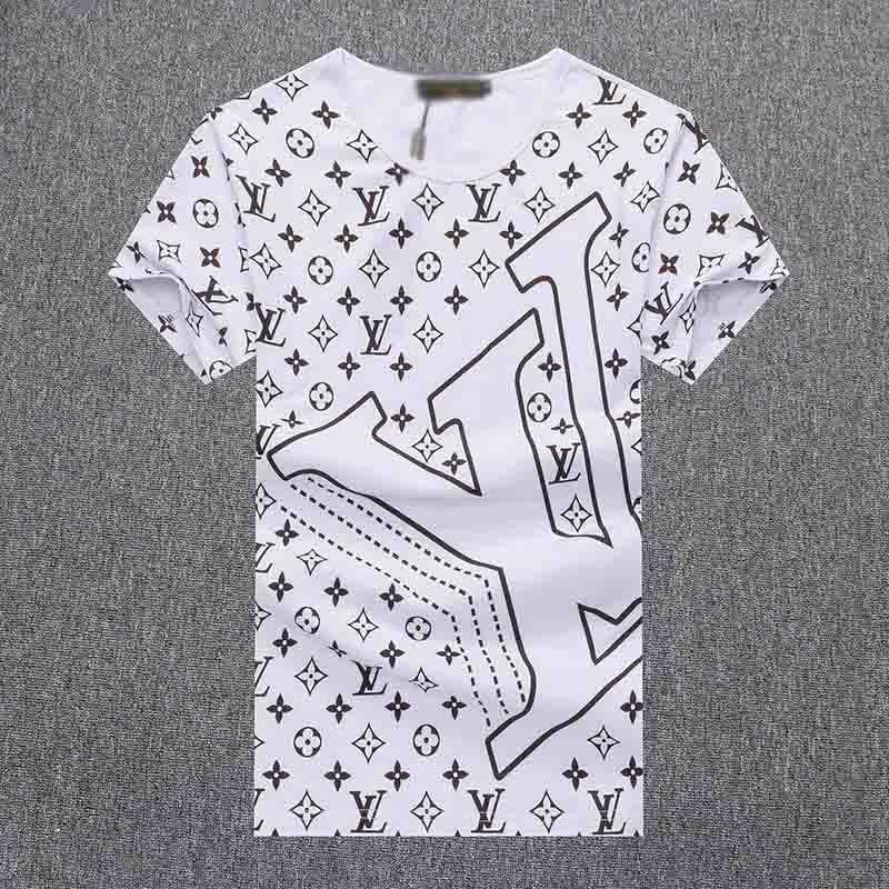 venta caliente de lujo europeo de alta calidad hombres bordado camiseta del diseñador de moda en forma de V