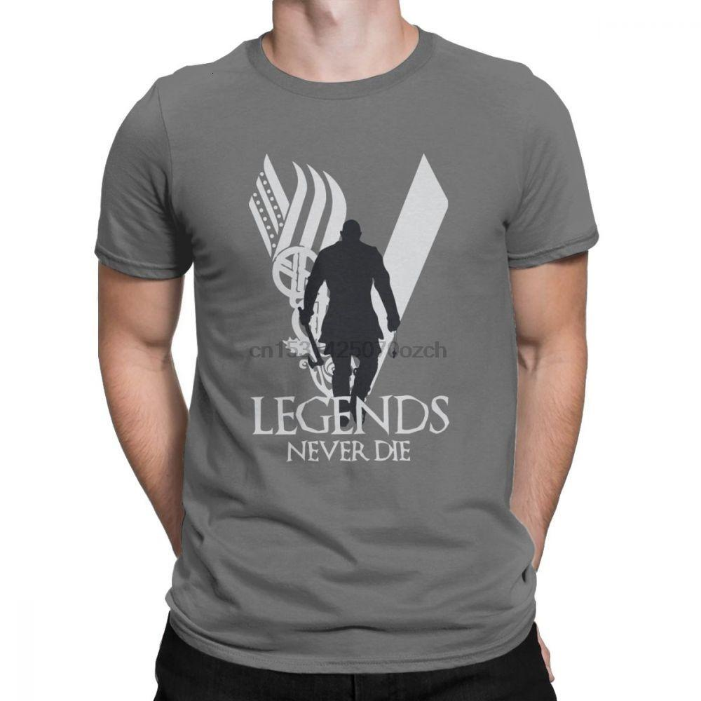 Midnite Yıldız Erkekler Efsaneler Asla Odin Valhalla Viking Pamuk Elbise Komik Tee Yeni Geliş Vikingler T Gömlek Die