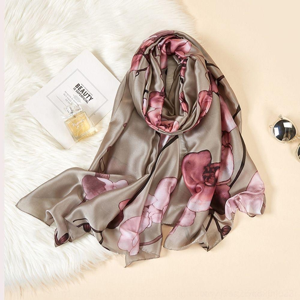 bufanda de seda de invierno resorte de las mujeres de seda de nuevo cuatro estaciones de otoño y bufanda-como la impresión del todo-fósforo larga bufanda de SK089 Ml4Wt