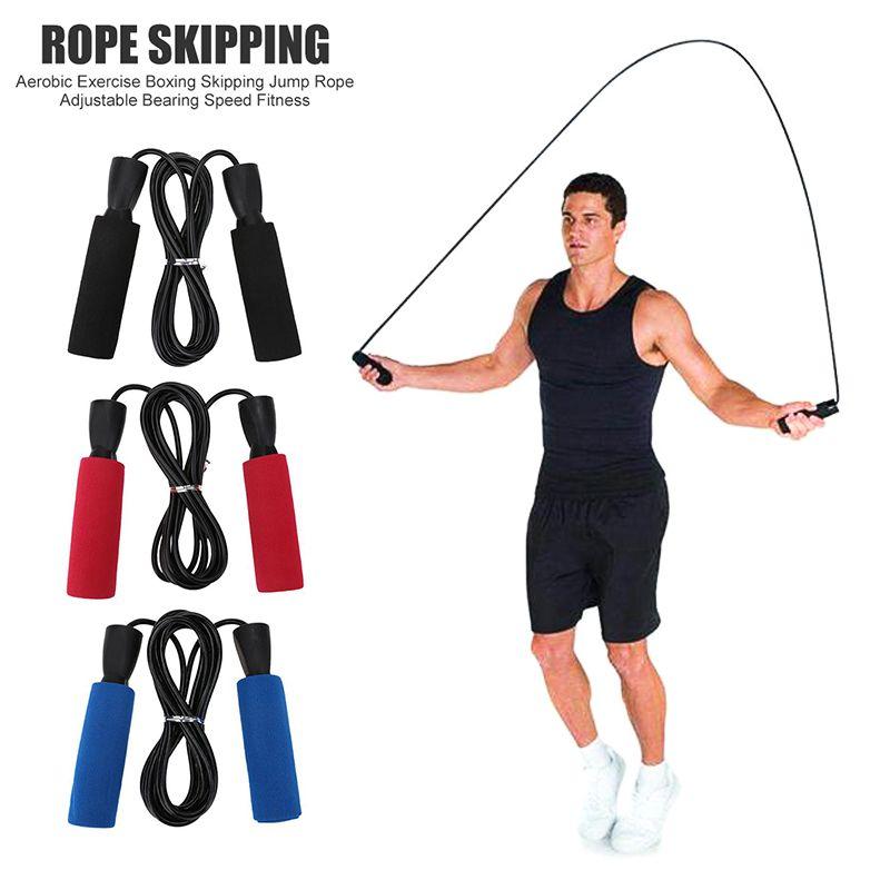 Регулируемый Спорт Скакалка Студент подшипника Пропустить Rope Anti-Slip пены Бокс Skipping гимнастики оборудования пригодности Drop Shipping