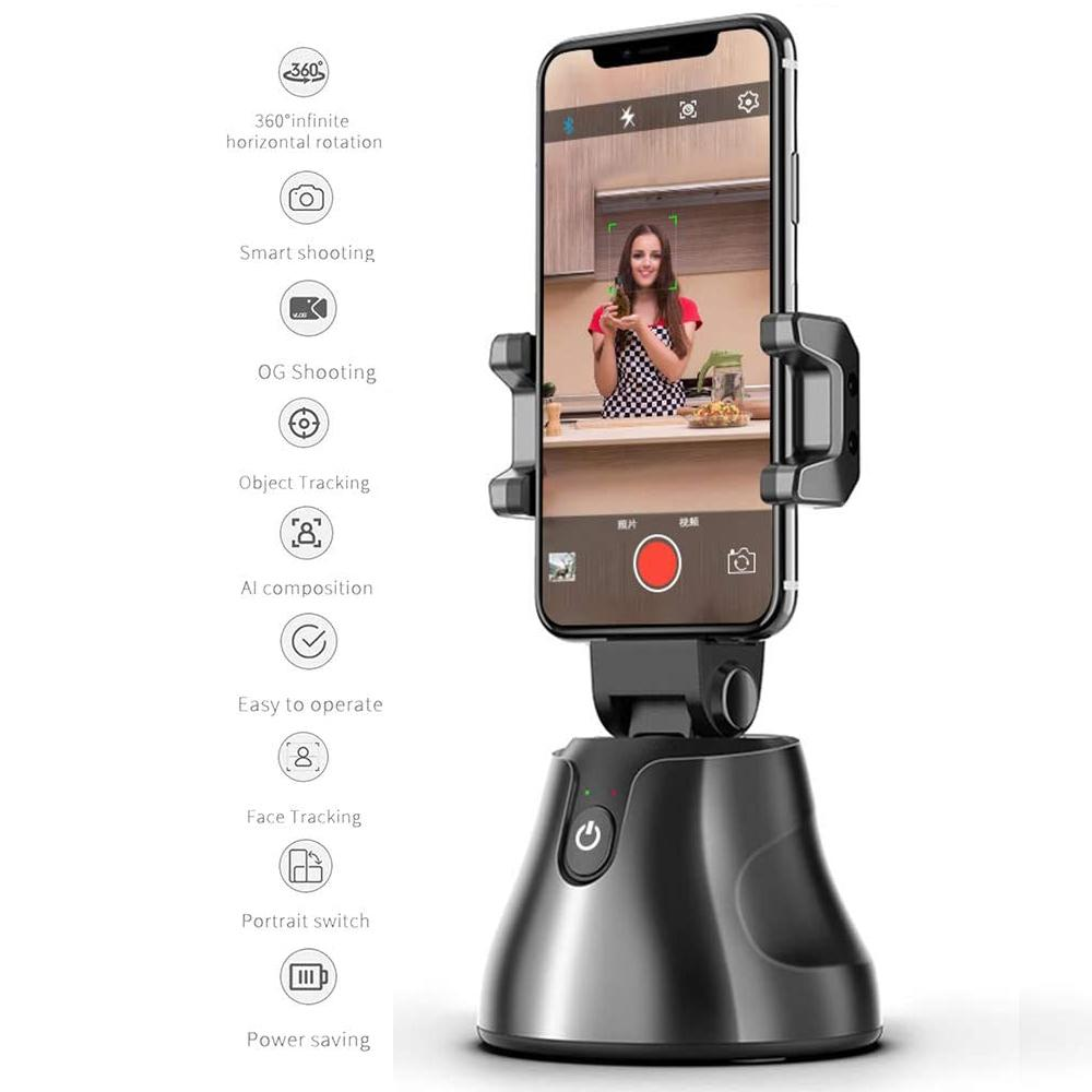 Apal Genie selfie Bâton intelligent 360 ° selfie Prise de vue objet Gimbal Suivi du visage Smart Phone Holder Pour Photo Vedio Vlog en direct