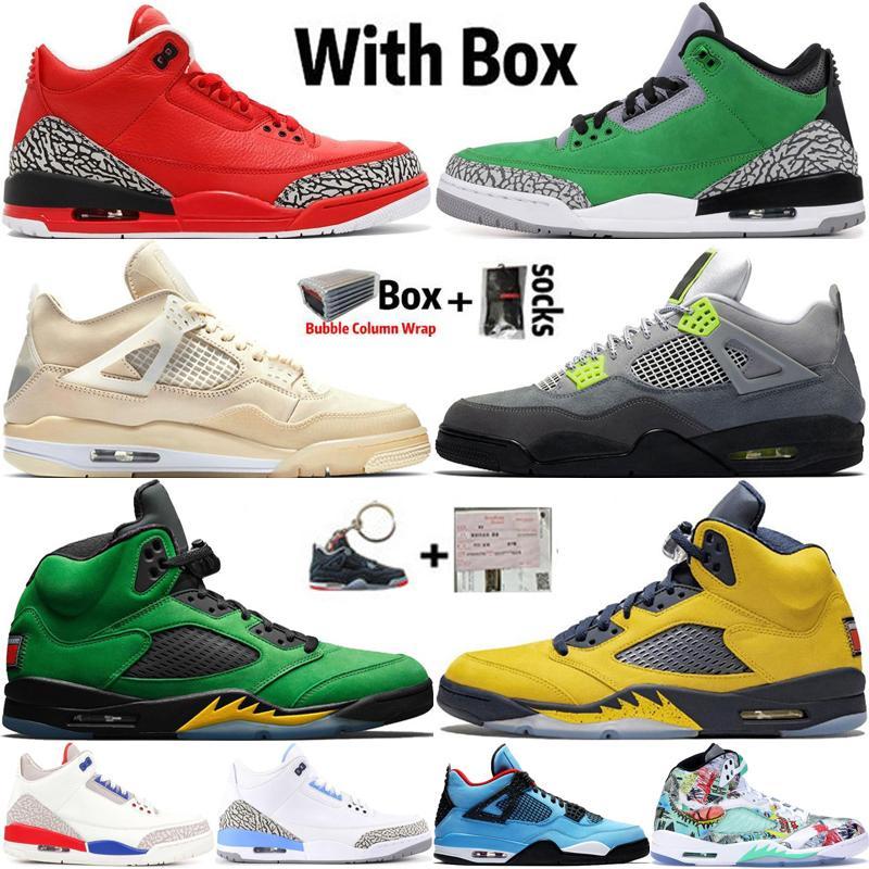 2020 New Arrival Top Quality Jumpman 4 4s Sail Neon Mens tênis de basquete 3 3s Grateful Tinker 5 5s Michigan Trainers Sneakers Desporto