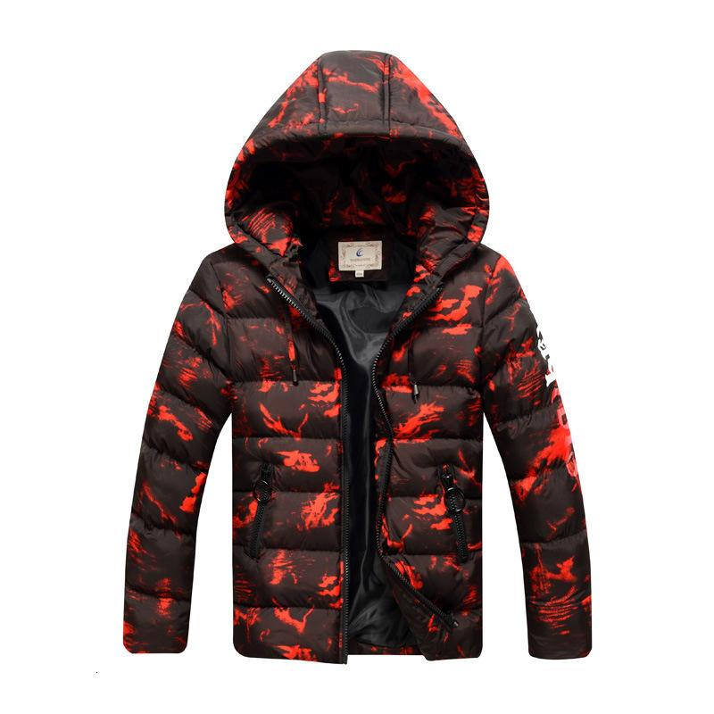 Big Boys Winter Coats Children Down Jackets Camouflage Printing Kids Jacket Thicken Warm Parkas Hooded Children Outwear Clothes