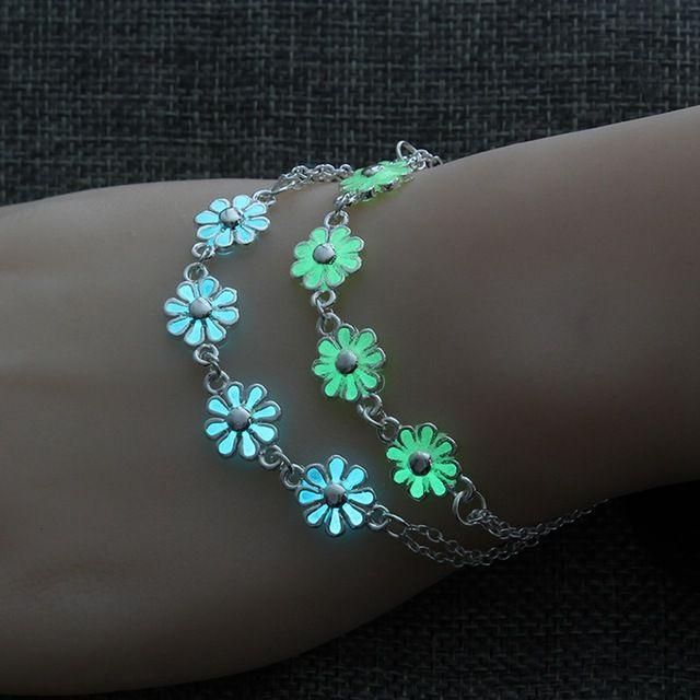 Hain lien Bracelets Bracelet lumineux Fleurs pendentif pour femmes Joli amant Punk Bangles Fashion Party Femme Bracelet Bijoux Cadeau Gl ...