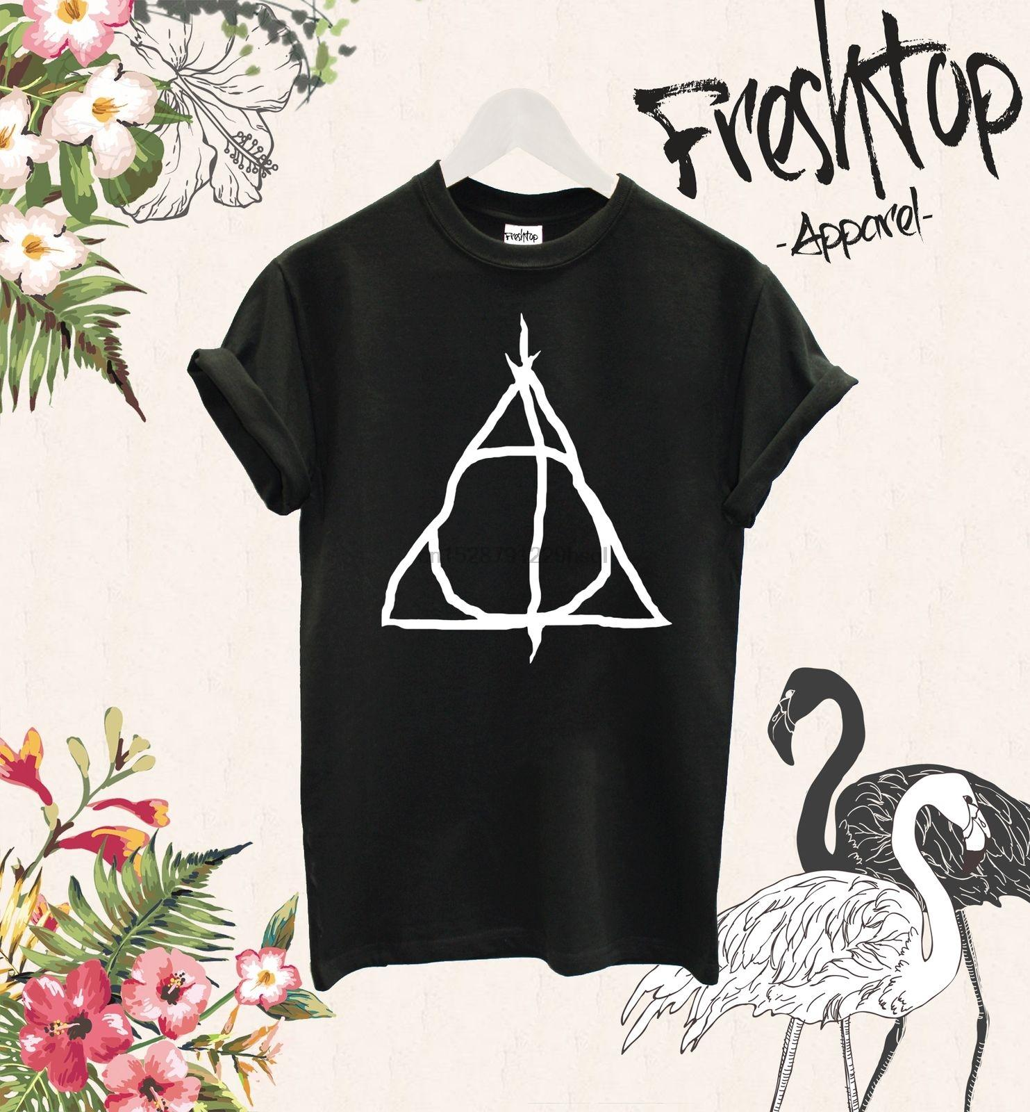 Deathly Hallows T Shirt Alan Rickman Expecto Patronum Hogwarts Printed T Shirt Summer Men Top Tee T-shirt Men 2020 New