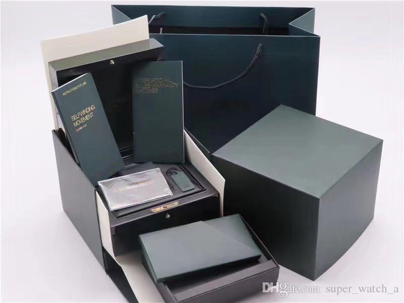 هدية بطاقة المطابقة الأصلية ورقات الأمن حقيبة الأعلى صندوق خشب ووتش لAP صناديق كتيبات ساعات مجانية طباعة بطاقة مخصص حالة ووتش
