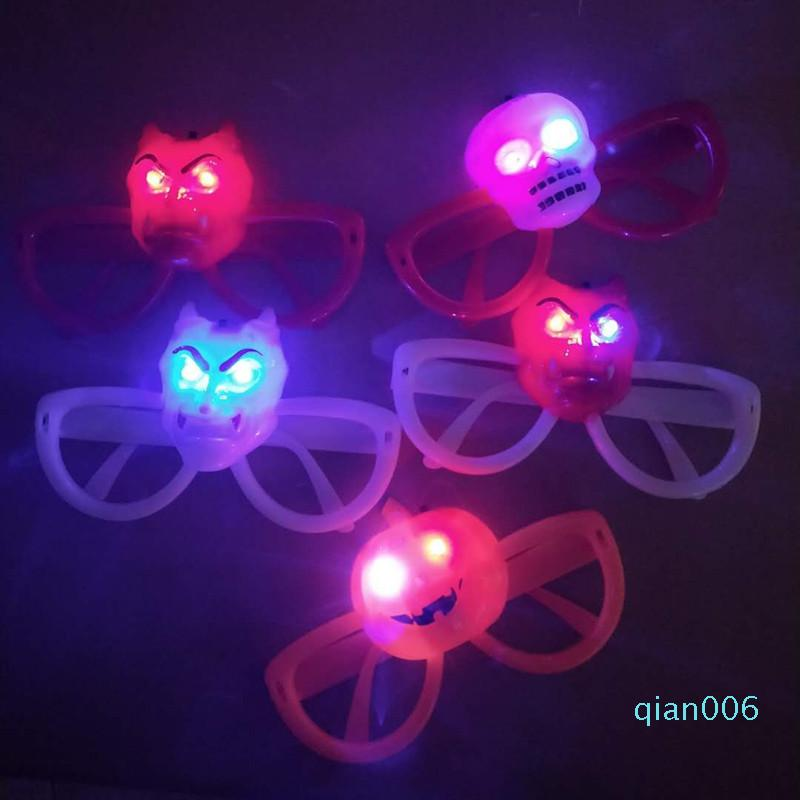 Led Light Up Toys Glasses Flash Halloween Christmas Luminescent Glass Originality Cheer Prop With Different Colors 3 2ky J1