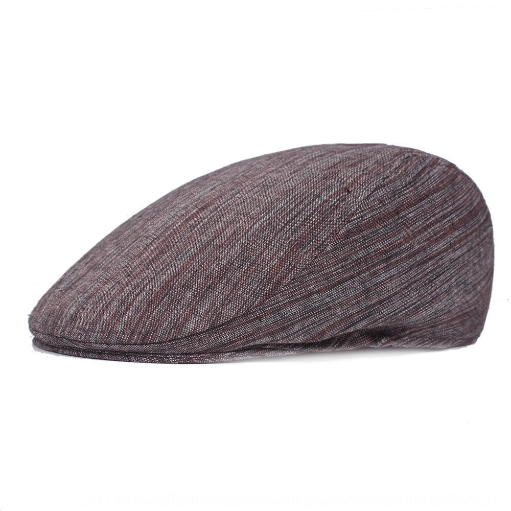 boina hacia adelante hacia adelante boina gorra con visera de mediana edad británicas UDCgs sombrero de los hombres del casquillo de los hombres en punta