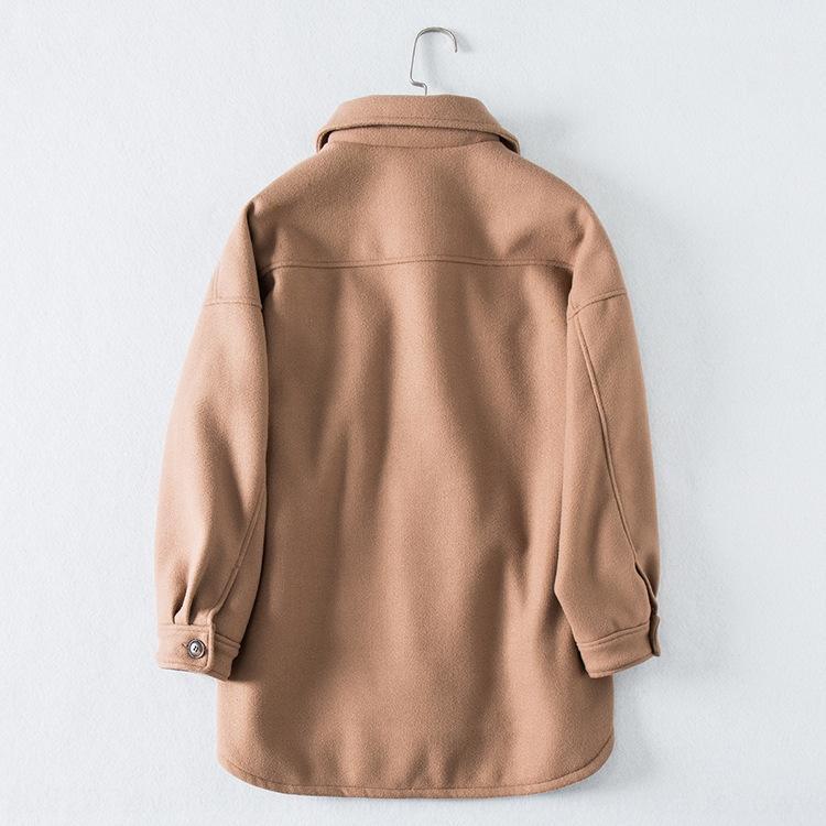 3d0Md рубашки 2019 осени и зима нового кармана куртки инструментов DDC78 толстой шерстяной жакет рубашка шерсть большая шерсть
