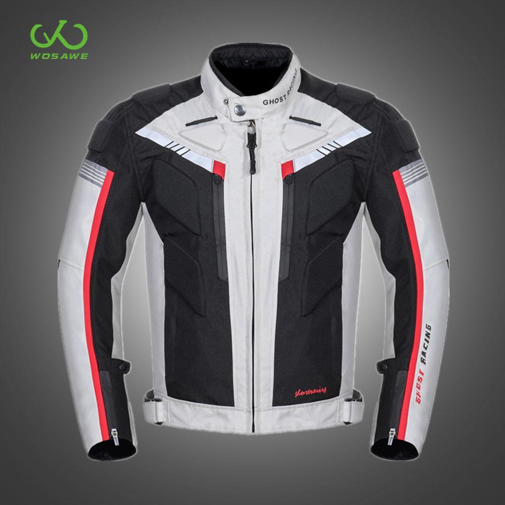 Koruyucu Yansıtıcı Motosiklet Ceketler Su geçirmez Windproof Moto Coat Yol MTB Binme Vücut Koruma Yarışı Motokros Zırh