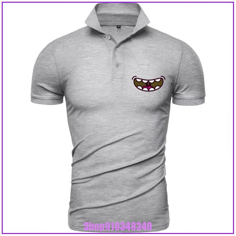 Смешной Рот O-образного вырез рубашка кемпинг Lover Vintage белой рубашки Homme мода против морщин Хлопок Homme Top Tee