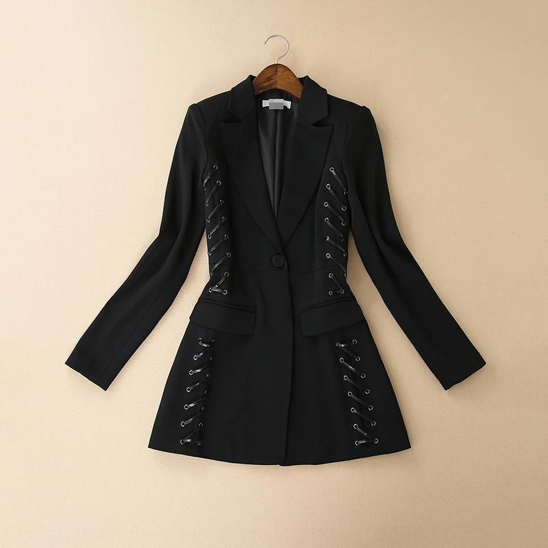 mb4O2 FDJej Sonbahar Yeni Moda uzun kollu rahat aynı yıldız küçük takım elbise Sonbahar Yeni Moda Kadın uzun kollu Coat ceket aynı casual yıldız