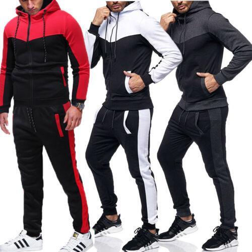 Sweat à capuche Pantalons Ensembles Survêtement de jogging Sweatsuit Activewear Mens Survêtement Set Hoodies Joggers Set Automne Hiver Gym Active Wear