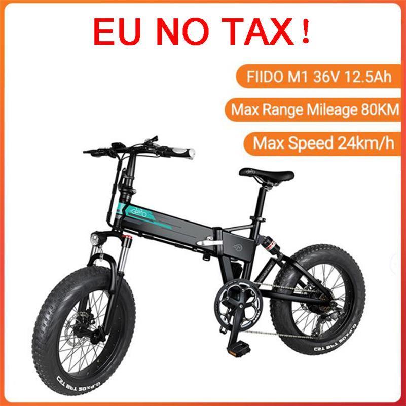 [EU Direct] FIIDO M1 Bike 36V 12.5Ah 250W 20 pollici Pieghevole Bikes Pieghevole Bikes Elettrico 24 km / h Top Velocità 80km Chilometraggio elettrico-bicicletta E-Bike Inclusive IVA inclusa