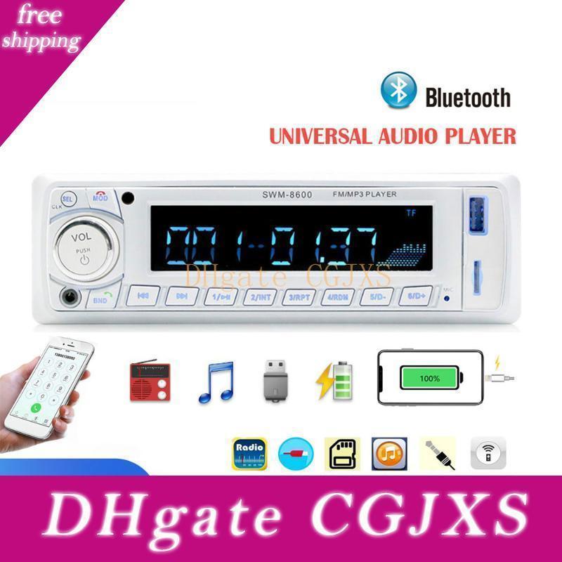 8600 자동차 라디오 1 딘에서 -Dash Autoradio FM / 블루투스 / SD / USB / MP3 멀티미디어 플레이어 원격 제어 12V 4 - 채널 출력 Autoradio