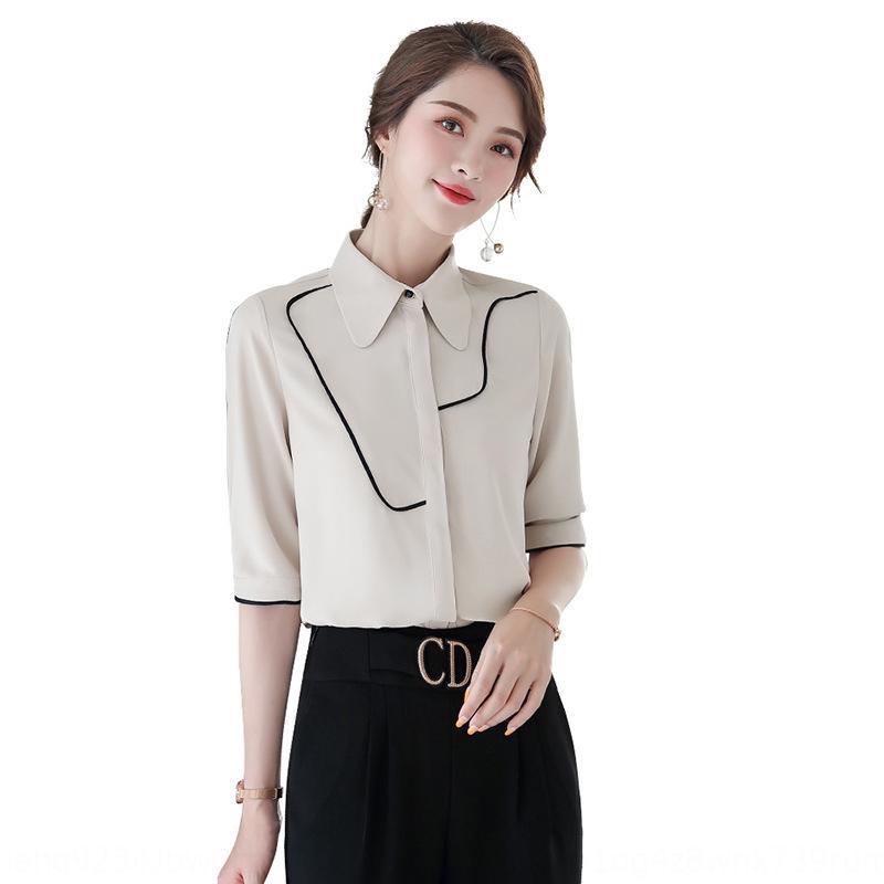 8jxId Frauen 2020 zweiteiliges Temperament Frühling Hemd Göttin Stil weißes Hemd professionelle wissen Set-Design Sinn Nische formelle Kleidung