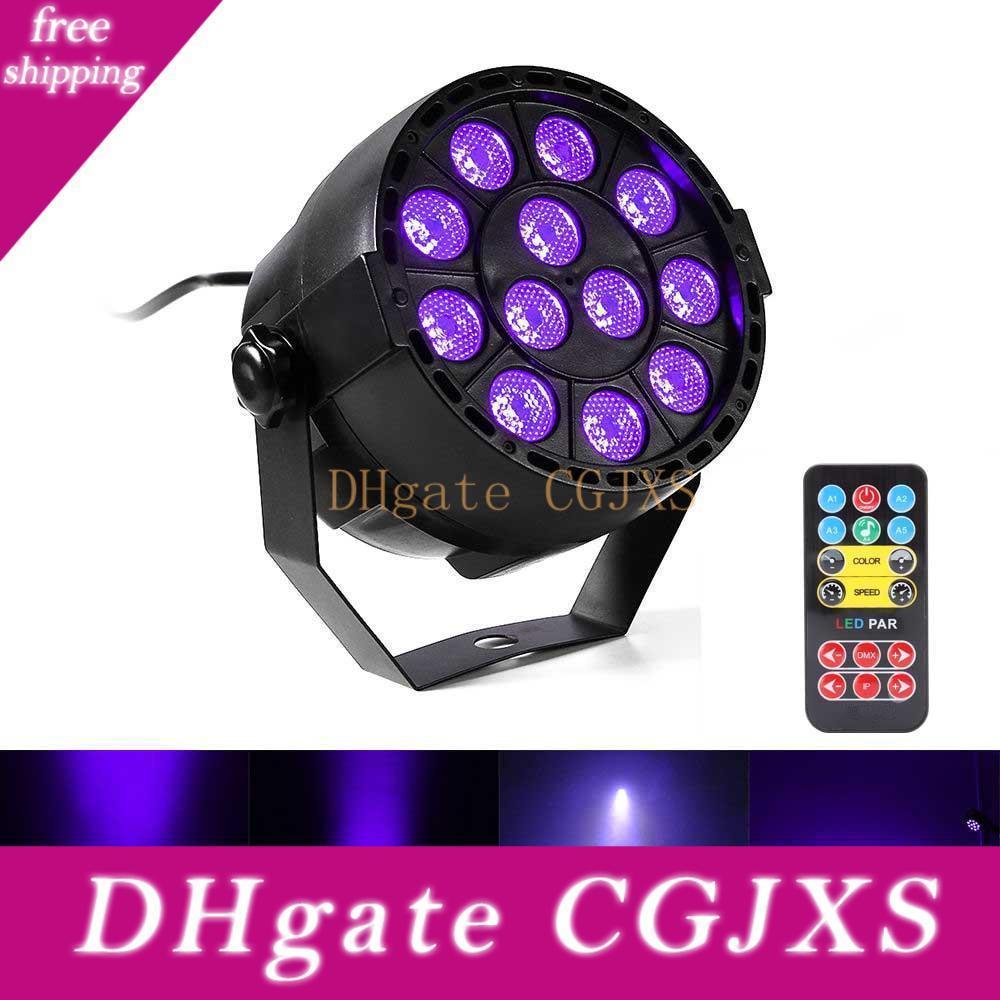 36W UV-LED-Stadiums-Licht-Ton-Aktiv 12 LEDs Auto DMX UV Strobe Par Schwarz-Lichter für Disco-Licht DJ-Projektor-Party