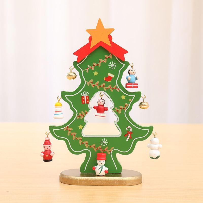 Holz Desktop Diydiy mini aus Holz Weihnachtsbaum Desktop Diydiy Dekoration Miniweihnachtsbaumdekoration SHkYo