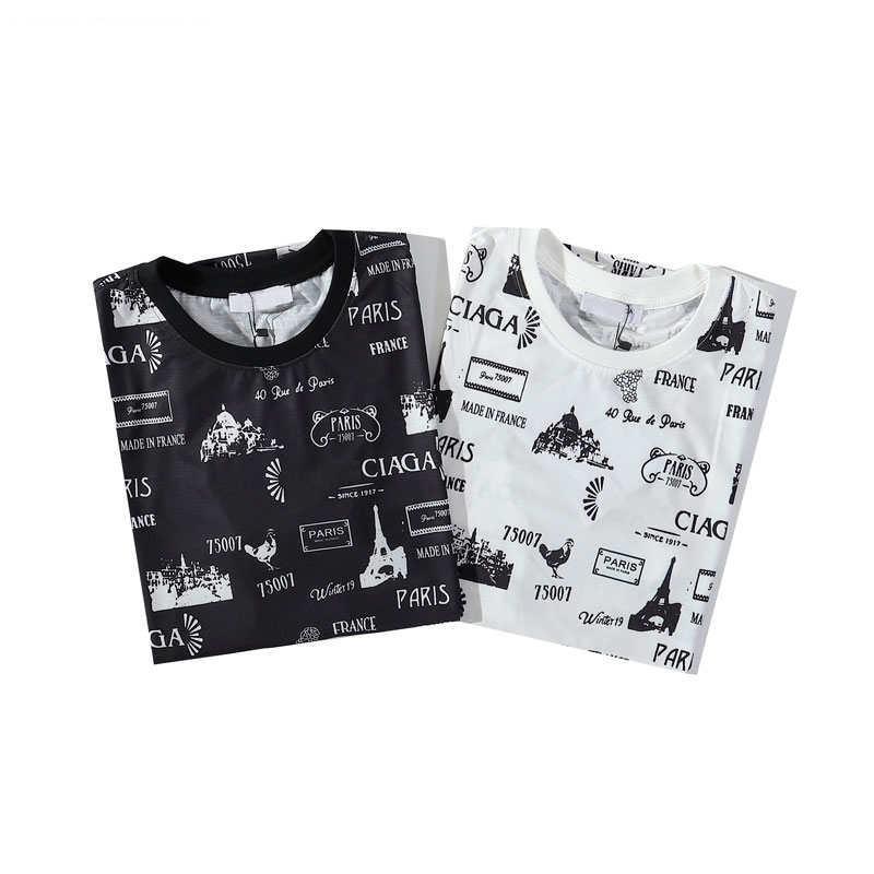 Herren Neu-T-Shirt für Sommer-beiläufigen Buchstaben gedruckten T-Shirts 2020 neuen Ankunfts-Unisex-T-Shirts 2 Farben-Größe M-2XL 2020 Haut Couture