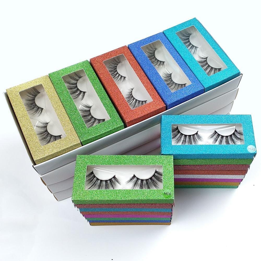 Großhandel Wimpern 10 Art 3D Mink Lashes Natürliche falsche Wimpern Make-up Lashes Thick Mink Wimpern-Pack Bulk Ware