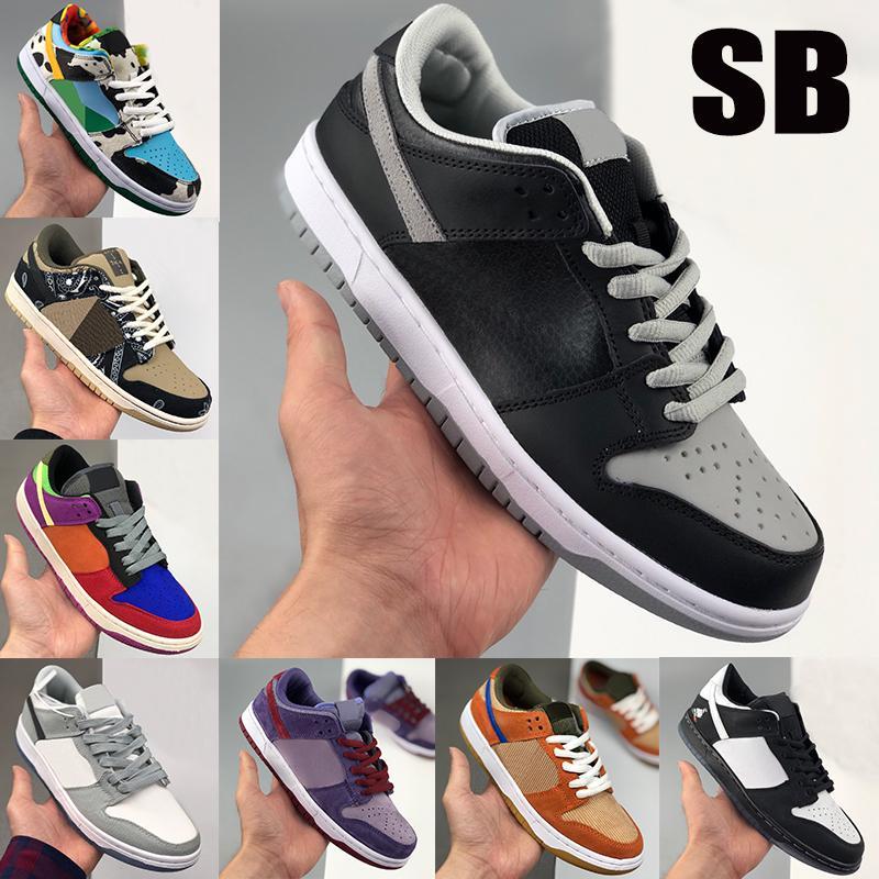 Nouveau meilleur chaussures casual dunk SB ombre Chunky Dunky Travis Scotts viotech prune panda pigeon LX toile hommes gris blanc chaussures de sport des femmes de