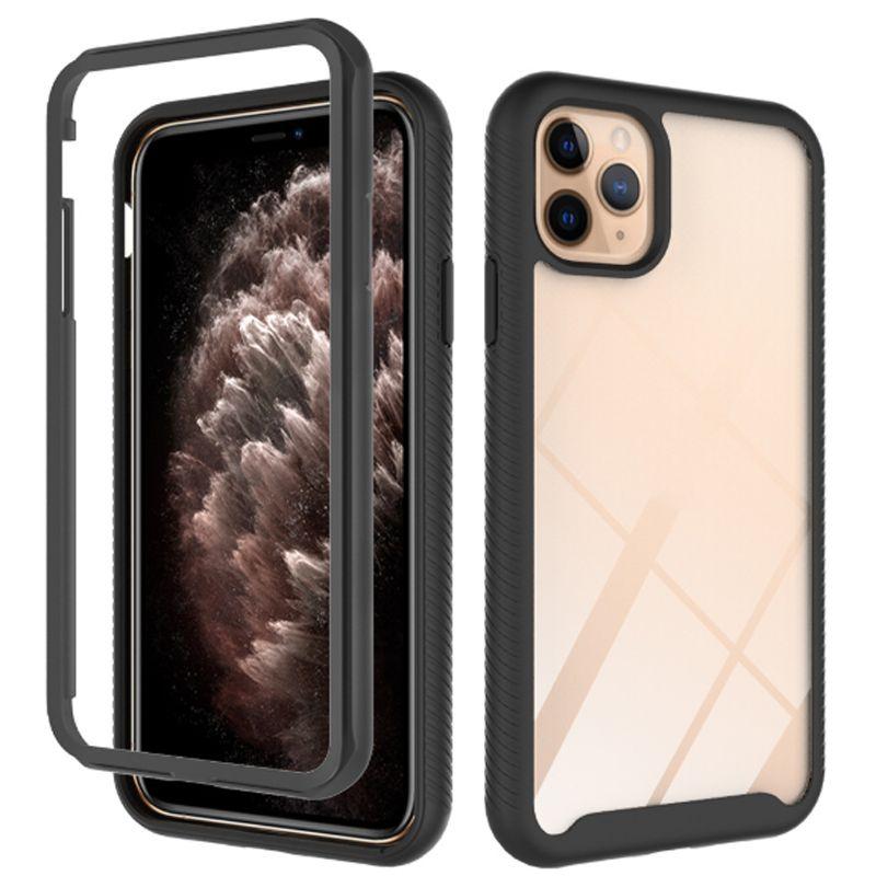 Pour iPhone 13 12 11 PRO 7 8 6 6S Plus cas Coque de téléphone concepteur TPU + PC Couverture arrière Trois couches de protection