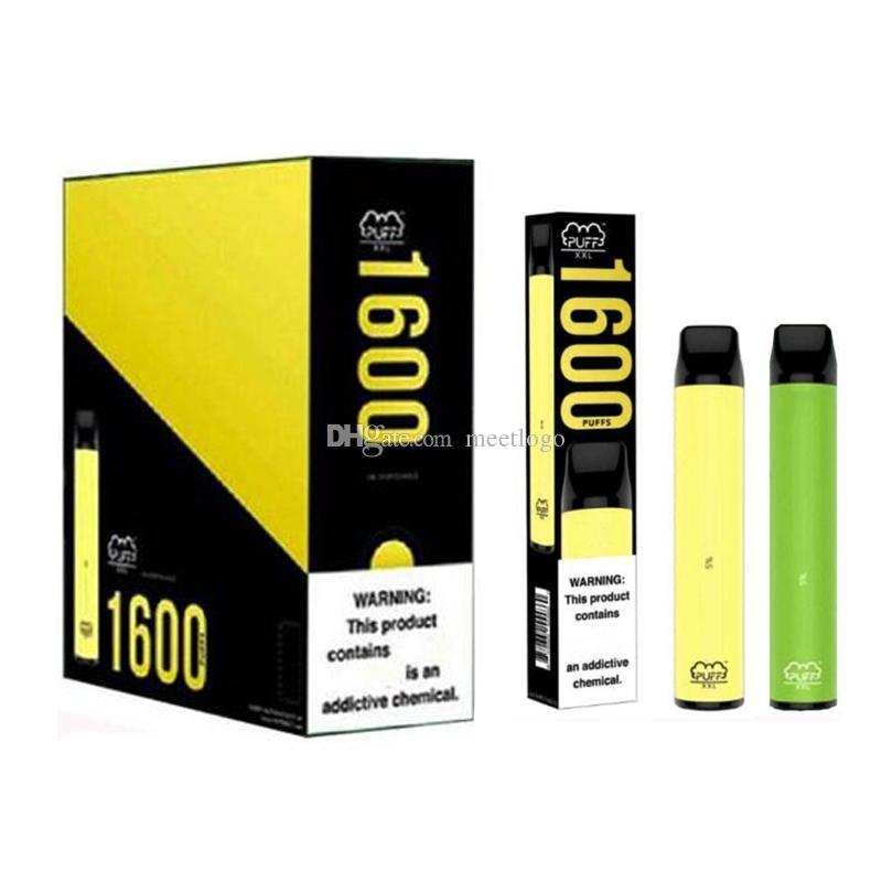 Neueste Puff XXL 1600 Puffs Hits Einweggerät Vorgefüllt Vape Pen E Zigaretten Tragbare System Stick Packbar Starter Kit Verdampferhalter Stift