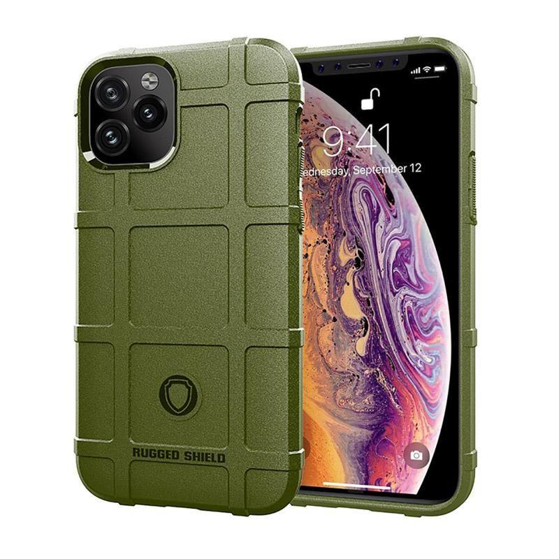 Cgjxs robusto scudo della cassa del telefono per Iphone 11 Pro Max Xs Xr 8 7plus Tpu armatura in fibra di carbonio non -slip Struttura 3 millimetri Back Cover